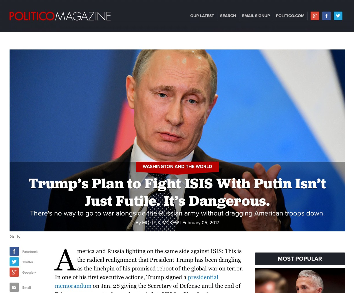 Vladimir Putin personally ordered an interference campaign to disrupt the 2016 U.S. elections. History will judge him harshly.
